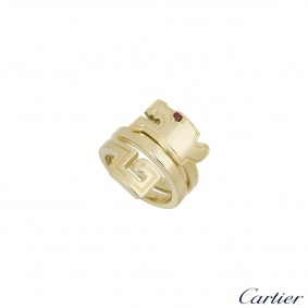 Cartier Yellow Gold Le Basier Du Dragon Ring